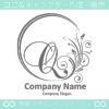 Q文字,花,フラワー,月,優美なロゴマークデザインです。
