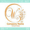 W文字,花,フラワー,月,優美なロゴマークデザインです。