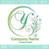 Y文字,花,フラワー,月,優美なロゴマークデザインです。