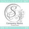 S文字,花,フラワー,月,優美なロゴマークデザインです。