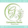 G文字,花,フラワー,月の上品なロゴマークデザインです。