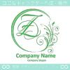 Z文字,月,フローラル,花の上品なロゴマークデザインです。
