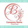 B文字,月,フローラル,花の上品なロゴマークデザインです。