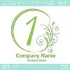 数字1,花,フラワー,月のイメージのロゴマークデザインです。