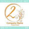 数字2,花,フラワー,月のイメージのロゴマークデザインです。