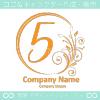 数字5,花,フラワー,月のイメージのロゴマークデザインです。