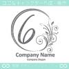 数字6,花,フラワー,月のイメージのロゴマークデザインです。
