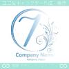 数字7,花,フラワー,月のイメージのロゴマークデザインです。