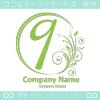 数字9,花,フラワー,月のイメージのロゴマークデザインです。