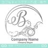Bアルファベット,波,海,月,芸術のロゴマークデザインです。