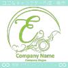 Eアルファベット,波,海,月,芸術のロゴマークデザインです。
