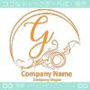 Gアルファベット,波,海,月,芸術のロゴマークデザインです。