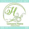 Hアルファベット,波,海,月,芸術のロゴマークデザインです。