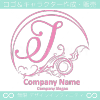 Jアルファベット,波,海,月,芸術のロゴマークデザインです。