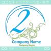 数字2,アート,海,波,芸術のロゴマークデザインです。