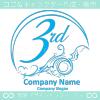 3周年記念,海,波,芸術のロゴマークデザインです。