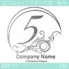 数字5,アート,海,波,芸術のロゴマークデザインです。