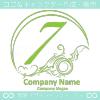数字7,アート,海,波,芸術のロゴマークデザインです。