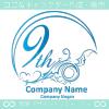 9周年記念,海,波,芸術のロゴマークデザインです。