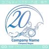 20数字,アート,海,波,芸術のロゴマークデザインです。