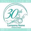 30周年記念,海,波,芸術のロゴマークデザインです。