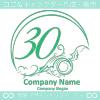 数字30,アート,海,波,芸術のロゴマークデザインです。