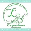 L文字,海,波,芸術のロゴマークデザインです。