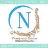N文字、ヨーロッパ、王族の紋章のイメージのロゴマークデザイン