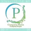 P文字、ヨーロッパ、王族の紋章のイメージのロゴマークデザイン