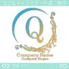 Q文字、ヨーロッパ、王族の紋章のイメージのロゴマークデザイン