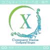 X文字、アメージング、欧米風のイメージのロゴマークデザイン