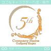 5周年記念、中世ヨーロッパのイメージのロゴマークデザインです。