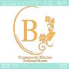 B文字、薔薇、ミラー、ヨーロッパのイメージのロゴマークデザイン。