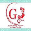G文字、鏡、バラ、薔薇、フラワーをイメージしたロゴマークデザイン