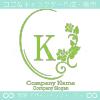 K文字、薔薇、ミラー、ヨーロッパのイメージのロゴマークデザイン。
