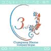 3周年記念、鏡、薔薇、魅了をイメージしたロゴマークデザインです。