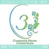 数字3、花、ローズ、鏡、ヨーロピアンをイメージしたロゴマークです。