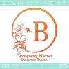 B文字、リーフ、太陽、ヨーロッパのイメージのロゴマークデザイン。