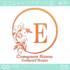 E文字、リーフ、太陽、ヨーロッパのイメージのロゴマークデザイン。