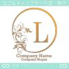 L文字、太陽、リーフ、エレガントなイメージのロゴマークデザイン。