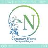 N文字、リーフ、太陽、ヨーロッパのイメージのロゴマークデザイン。