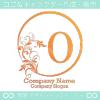 O文字、太陽、リーフ、エレガントなイメージのロゴマークデザイン。