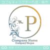 P文字、太陽、リーフ、エレガントなイメージのロゴマークデザイン