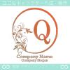 Q文字、リーフ、太陽、ヨーロッパのイメージのロゴマークデザイン。