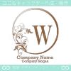 W文字、リーフ、太陽、ヨーロッパのイメージのロゴマークデザイン。