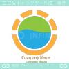 自然と太陽光のシンボルマークのロゴマークデザインです。