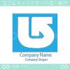 矢印とカーブのシンボルマークのロゴマークデザインです。