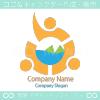 リーダーシップとチームワークのシンボルマークのロゴマークデザイン