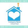 住宅、愛がモチーフのロゴマークデザインです。