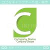C文字とリーフがモチーフのロゴマークデザインです。